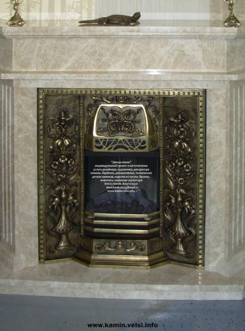 Б�онзов�й по��ал камина Х�доже��венное б�онзовое ли��е