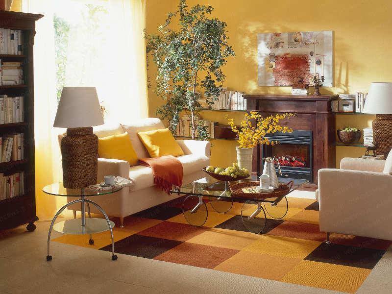 Dekor Wohnzimmer Gelb